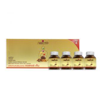 Ascor-10 ผลิตภัณฑ์เสริมอาหารแอสคอร์-เท็น (1 ขวด บรรจุ 30 เม็ด) แบบแพ็ค 4 ขวด LION Saha Group Online