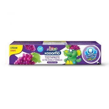 KODOMO ยาสีฟันเด็ก โคโดโม ชนิดครีม สูตรอัลตร้า ชิลด์ กลิ่นองุ่น 65 กรัม
