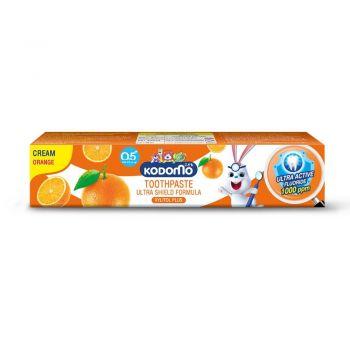KODOMO ยาสีฟันเด็ก โคโดโม ชนิดครีม สูตรอัลตร้า ชิลด์ กลิ่นส้ม 65 กรัม
