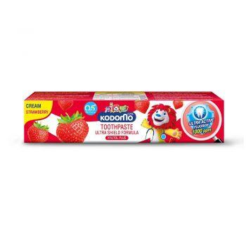 KODOMO ยาสีฟันเด็ก โคโดโม ชนิดครีม สูตรอัลตร้า ชิลด์ กลิ่นสตรอเบอรี่ 40 กรัม