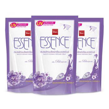 Essence ผลิตภัณฑ์รีดผ้าเรียบ เอสเซ้นซ์ กลิ่นบลอสซั่ม (สีม่วง) 500 มล. แพ็ค 3 ถุง