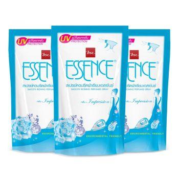 Essence ผลิตภัณฑ์รีดผ้าเรียบ เอสเซ้นซ์ กลิ่นอิมเพรสชั่น (สีฟ้า) 500 มล. แพ็ค 3 ถุง