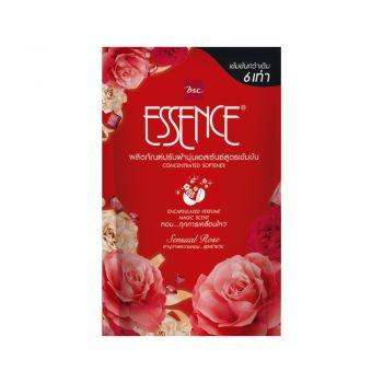 ESSENCE ผลิตภัณฑ์ ปรับผ้านุ่ม เอสเซ้นซ์ สูตรเข้มข้น กลิ่น Sensual Rose (แดง) 600 มล. (ชนิดถุง)