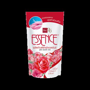 Essence น้ำยาซักผ้า เอสเซ้นซ์ สูตรช่วยย่อยสลายขุยผ้าส่วนเกิน Red Passion ( สีแดง ) ชนิดถุงเติม 400 มล.