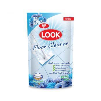 LOOK ผลิตภัณฑ์ ทำความสะอาด พื้นลุค กลิ่นบลูโอเชี่ยน(สีฟ้า) ชนิดถุงเติม 800 มล.