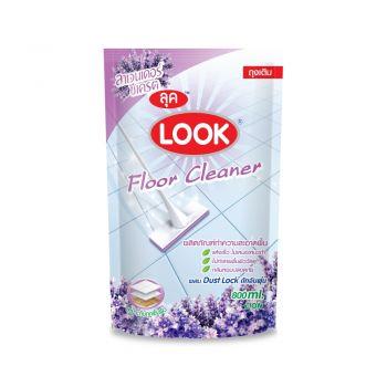 LOOK ผลิตภัณฑ์ ทำความสะอาด พื้นลุค กลิ่นลาเวนเดอร์ซีเครต(สีม่วง) ชนิดถุงเติม 800 มล.