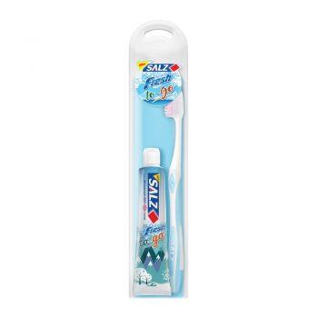 Salz Fresh to go ชุดแปรงสีฟันสำหรับเดินทาง 1 ชุด (คละสี)