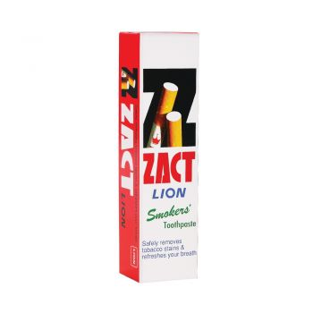 ZACT ยาสีฟันขจัดคราบ แซคท์ สูตรสำหรับผู้สูบบุหรี่ (กล่องสีแดง) 160 กรัม