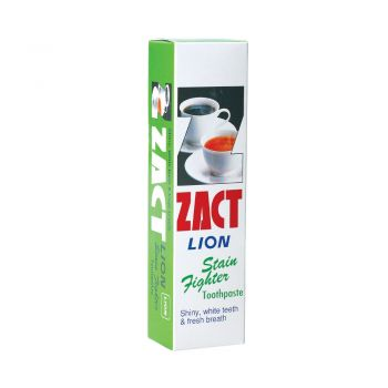 ZACT ยาสีฟันขจัดคราบ แซคท์ สูตรสำหรับผู้ดื่มกาแฟ และชา (กล่องสีเขียว) 160 กรัม