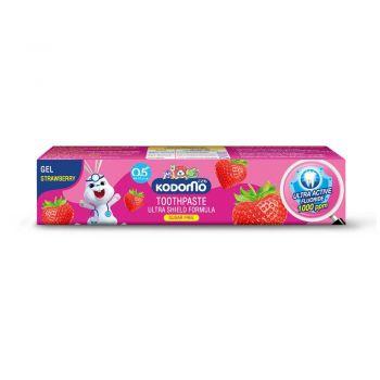 KODOMO ยาสีฟันเด็ก โคโดโม ชนิดเจล สูตรอัลตร้า ชิลด์ กลิ่นสตรอเบอรี่ 40 กรัม