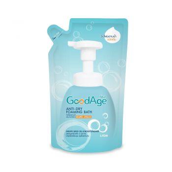 GoodAge Anti-Dry Foaming Bath วิปโฟมอาบน้ำ  กู๊ดเอจ ผิวแห้ง-แห้งมาก 430 มล.(ชนิดถุงเติม)