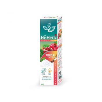 Hi-Herb  ยาสีฟัน ไฮเฮิร์บ Advanced Gum Care สูตร ดอกเกลือบริสุทธิ์ Triple Power 100 กรัม