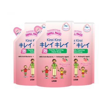 [แพ็ค 3] KIREI KIREI โฟมล้างมือ คิเรอิ คิเรอิ สูตรเพื่อผิวนุ่ม ชุ่มชื่น กลิ่นพีช (ถุงเติม) 200 มล.