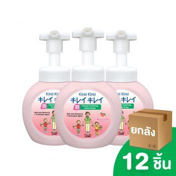 [ยกลัง] KIREI KIREI โฟมล้างมือ คิเรอิ คิเรอิ กลิ่นพีช สูตรเพื่อผิวนุ่ม ชุ่มชื่น 250 มล.  12 ชิ้น
