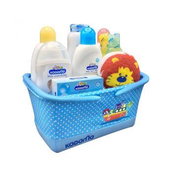 KODOMO ชุดของขวัญ สำหรับเด็กแรกเกิด โคโดโม (ตะกร้าสีฟ้า)
