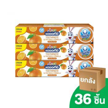 [ยกลัง] KODOMO ยาสีฟันเด็ก โคโดโม ชนิดครีม สูตรอัลตร้า ชิลด์ กลิ่นส้ม 40 กรัม 36 ชิ้น