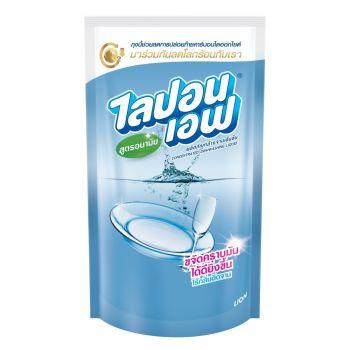 Lipon F ผลิตภัณฑ์ น้ำยาล้างจาน ไลปอน เอฟ สูตรอนามัย (ชนิดเติม) 550 ml. 1 ถุง