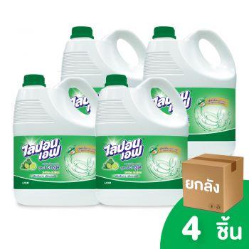 [ยกลัง] LIPON F ผลิตภัณฑ์ล้างจาน ไลปอน เอฟ สูตรมะกรูด ขจัดคราบมัน และ กลิ่นคาว 3600 ML. 4 ชิ้น