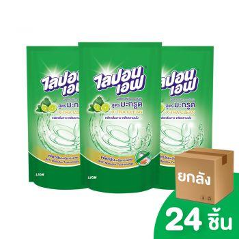 [ยกลัง] LIPON F ผลิตภัณฑ์ล้างจาน ไลปอนเอฟ สูตรมะกรูด X-Tra Clean (ชนิดถุงเติม) 500 มล. 24 ชิ้น
