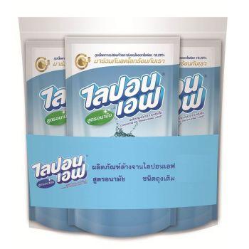 Lipon F ผลิตภัณฑ์ น้ำยาล้างจาน ไลปอนเอฟ สูตรอนามัย (ชนิดเติม) 550 ml แพ็ค 3