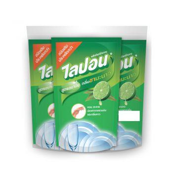 Lipon F ผลิตภัณฑ์ล้างจาน ไลปอน กลิ่น ชามะนาว (ชนิดเติม) 500 ml แพ็ค 3