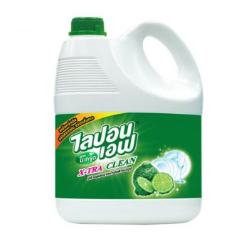 Lipon F ผลิตภัณฑ์ น้ำยาล้างจาน สูตรมะกรูด ขจัดคราบมัน และ กลิ่นคาว 3600 ml.
