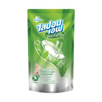 LIPON F Purify น้ำยาล้างจาน ไลปอนเอฟ เพียวริฟาย อโลเวร่า และ เปปเปอร์มิ้นท์ ( Aloe Vera & Peppermint ) 425 มล.