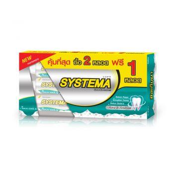 SYSTEMA ยาสีฟัน ซิสเท็มมา แคร์ แอนด์ โพรเทคท์ แม็กซี่คูล แพ็คคู่ 160กรัม (รุ่นพิเศษ แถมฟรี 1หลอด)