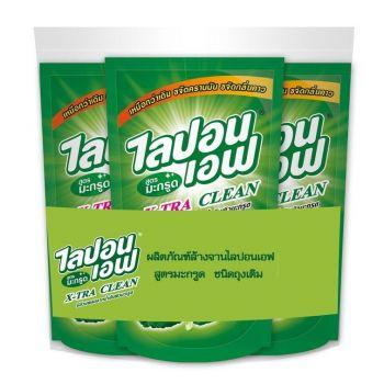 Lipon F ผลิตภัณฑ์ น้ำยาล้างจาน ไลปอน เอฟ สูตรมะกรูด ขจัดคราบมัน และ กลิ่นคาว (ชนิดเติม) 500 ml แพ็ค 3