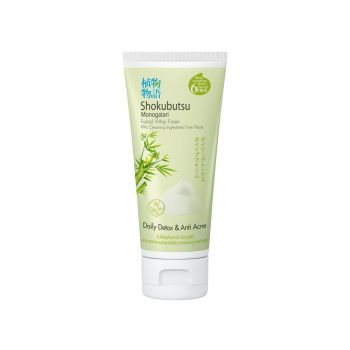 SHOKUBUTSU วิปโฟมล้างหน้า โชกุบุสซึ Daily Detox & Anti Acne ใบไผ่ญี่ปุ่น (สีเขียว) 100 กรัม