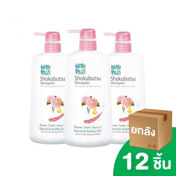 [ยกลัง] SHOKUBUTSU ครีมอาบน้ำ โชกุบุสซึ โมโนกาตริ สูตรเจแปนนิส คาเมลเลีย Japanese Camellia 500 มล. 12ชิ้น