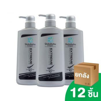 [ยกลัง] SHOKUBUTSU ครีมอาบน้ำ โชกุบุสซึ โมโนกาตาริ สูตร เอ็กซ์ตรีม โพรเทคชั่น 500 มล. 12 ชิ้น