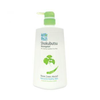 SHOKUBUTSU ครีมอาบน้ำ โชกุบุสซึ โมโนกาตาริ สูตรผิวเปล่งปลั่งเรียบเนียนชวนสัมผัส (Ginko) 500 มล.