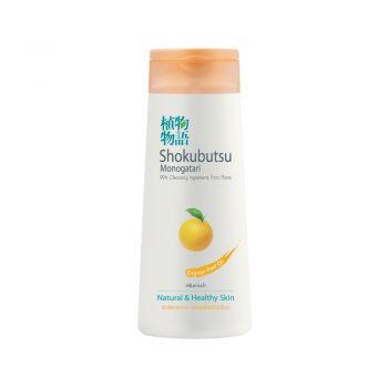SHOKUBUTSU ครีมอาบน้ำ โชกุบุสซึ โมโนกาตาริ สูตรผิวใสกระจ่าง เปล่งปลั่งมีชีวิตชีวา (กลิ่นส้ม) 200 มล.