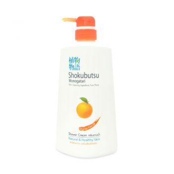 SHOKUBUTSU ครีมอาบน้ำ โชกุบุสซึ โมโนกาตาริ สูตรผิวใสกระจ่าง เปล่งปลั่งมีชีวิตชีวา (กลิ่นส้ม) 500 มล.