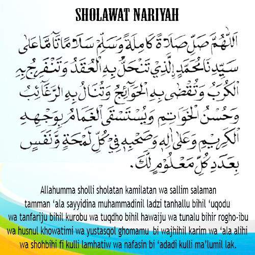 Rahasia Dibalik Pembacaan Sholawat Nariyah Doripos