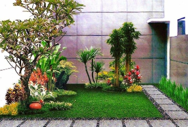 15 Inspirasi Taman Dalam Rumah Minimalis Modern Doripos