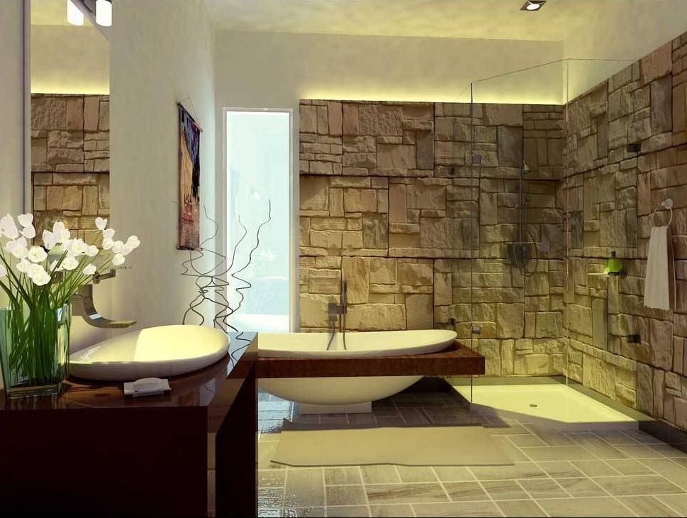 Tips Desain Lantai Kamar Mandi Dengan Menggunakan Keramik Batu