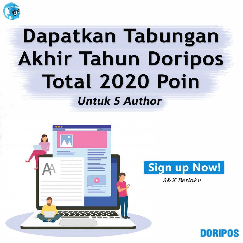 Dapatkan Tabungan Akhir Tahun Doripos Total 2020 Poin
