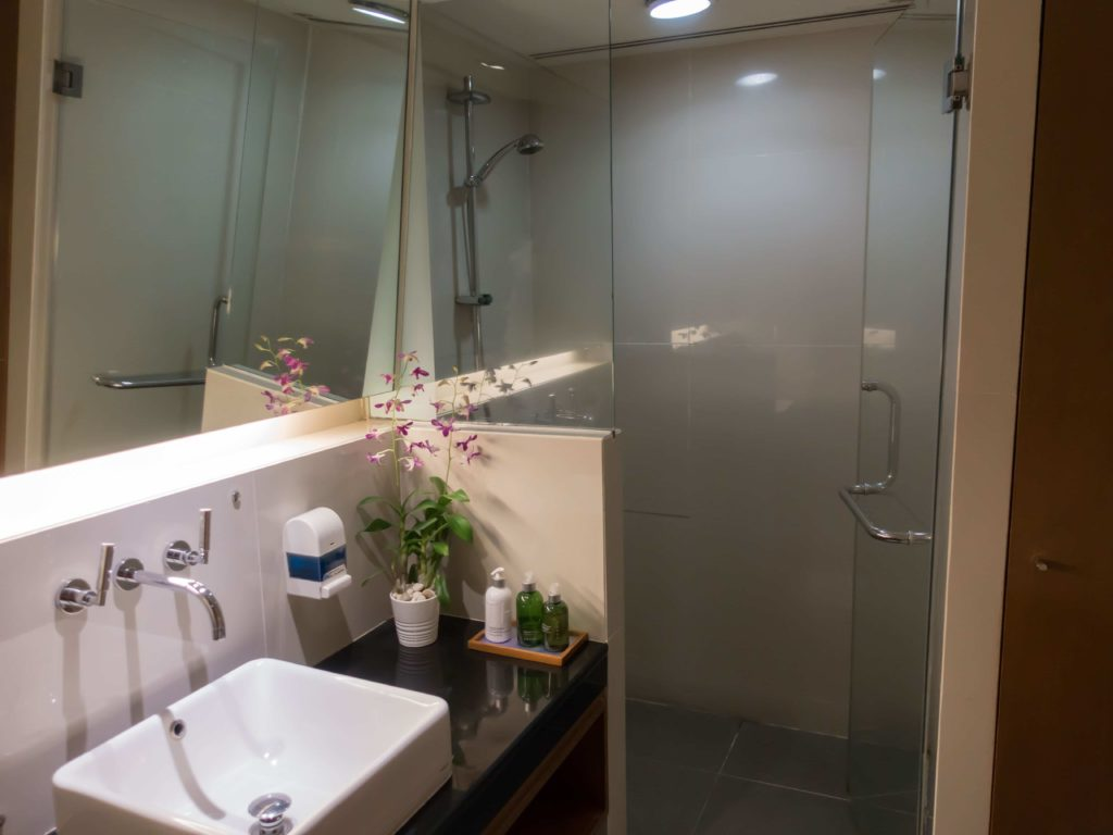 Shower Rooms in the Royal Orchid Lounge