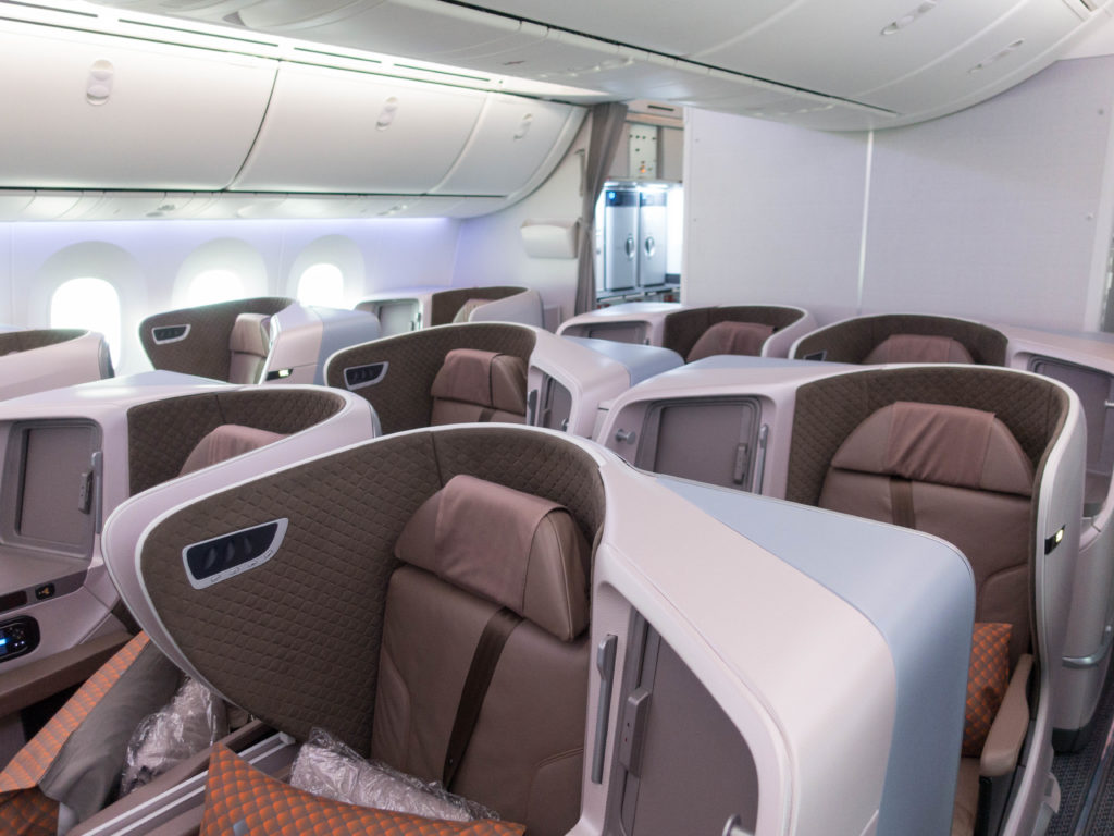Singapore Airlines New Regional Business Class Cabin