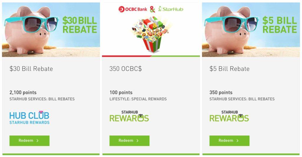 StarHub Rewards redemption