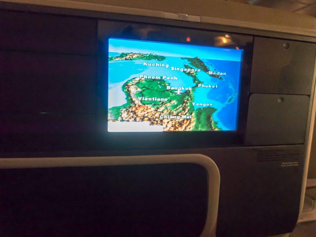 Ancient flight map interface