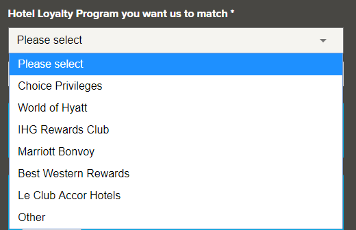 Hilton Honors Gold and Diamond status match now valid until