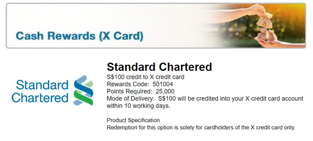 Review: Standard Chartered X Card (100,000 miles sign up bonus