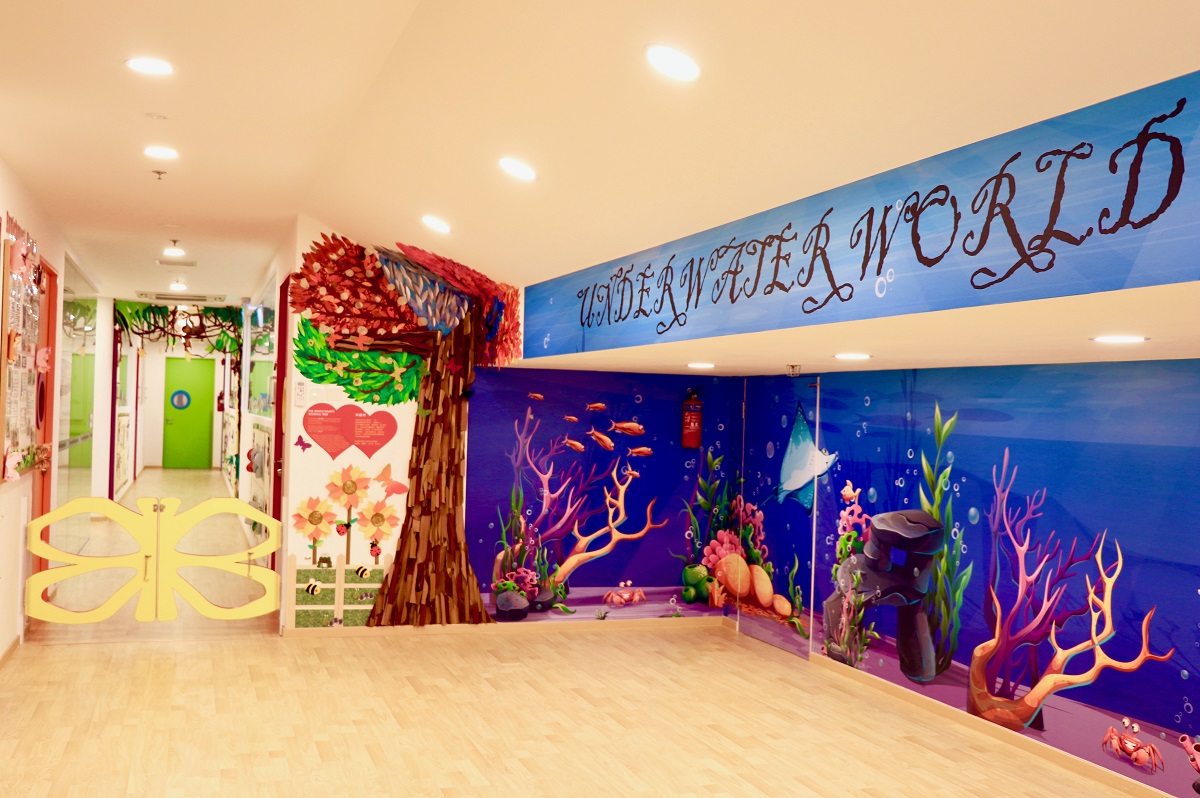 preschool in orchard interior