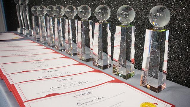 Champion Mindset Awards trophies