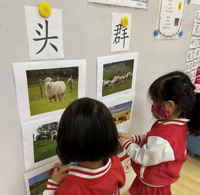 Preschool children learning Chinese at MindChamps PreSchool.