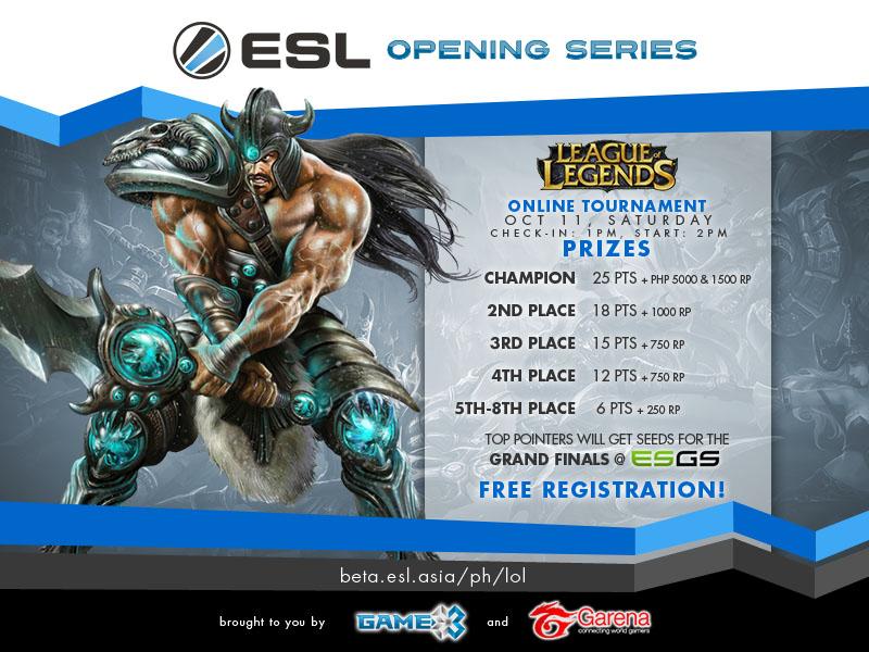 Last Esl Ph Online Lol Tournament This Saturday Mineski Net