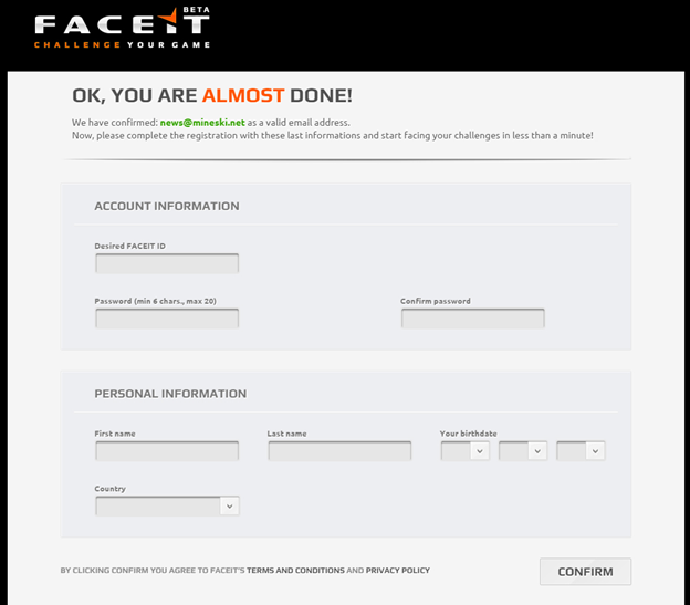 joining faceit for the ti5 sea open qualifiers an easy to